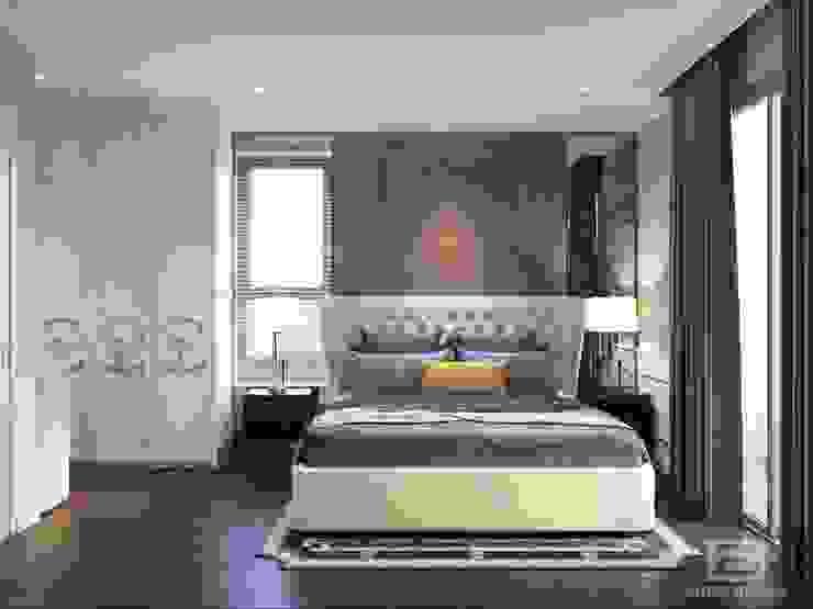 Thiết kế nội thất căn hộ Hado Centrosa Garden: Đẳng cấp cùng phong cách Tân cổ điển Phòng ngủ phong cách kinh điển bởi SHINE DESIGN Kinh điển