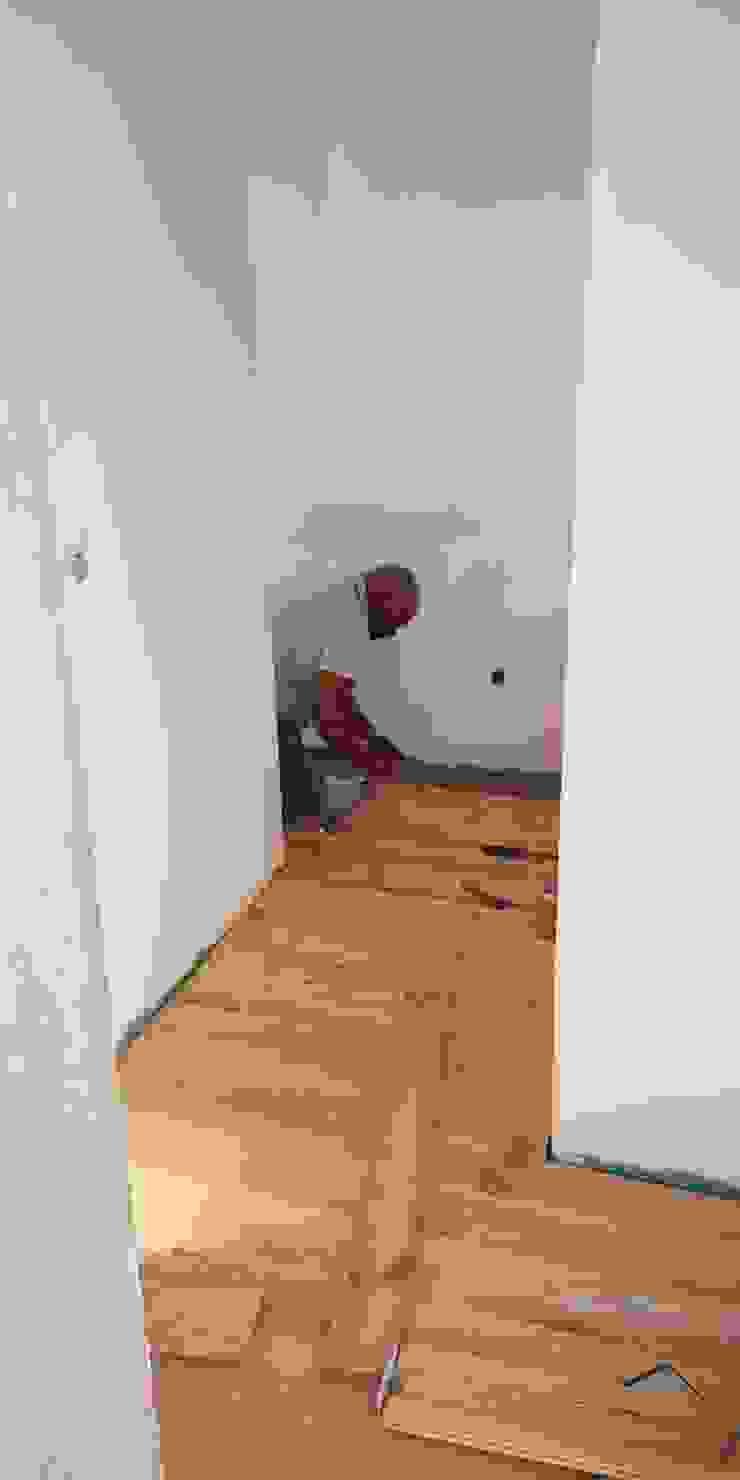 pormenor da aplicação do pavimento no corredor IIP - Reabilitação e Construção