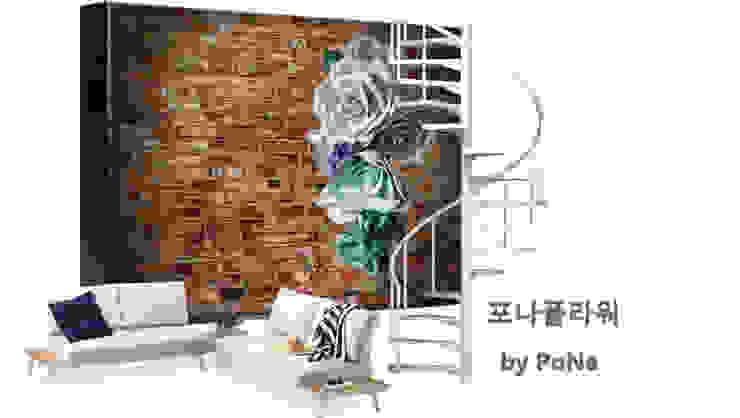 벽장식 에바폼 대형꽃 가랜드 스칸디나비아 거실 by PoNa 북유럽 고무