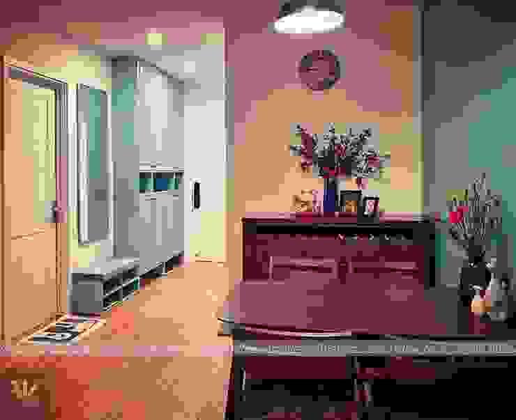 Dự án thiết kế nội thất căn hộ Bea Sky Nguyễn xiển 70m2 Phòng khách phong cách tối giản bởi Công ty nội thất ATZ LUXURY Tối giản