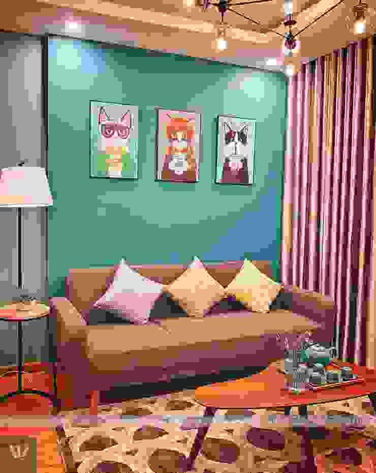 Dự án thiết kế nội thất căn hộ Bea Sky Nguyễn xiển 70m2 bởi Công ty nội thất ATZ LUXURY Hiện đại
