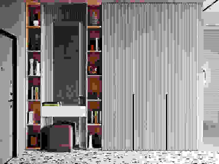 Квартира в ЖК Зиларт Коридор, прихожая и лестница в стиле минимализм от Мария Ничипоренко Минимализм
