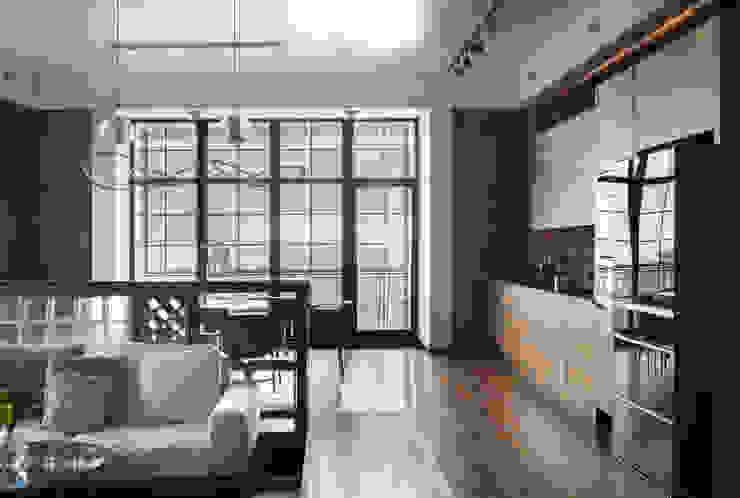 Реализованный проект | 219 кв. м | Bay view apartment | Квартира в стиле лофт MIYAO Кухня в стиле лофт