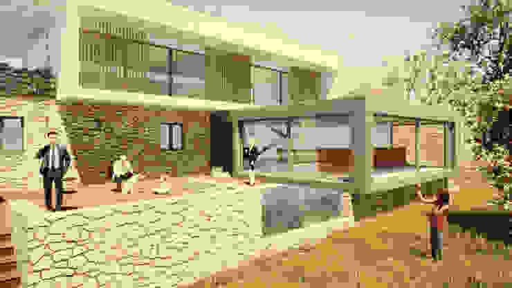 Moradia em Cascais L.A.D Atelier Casas modernas