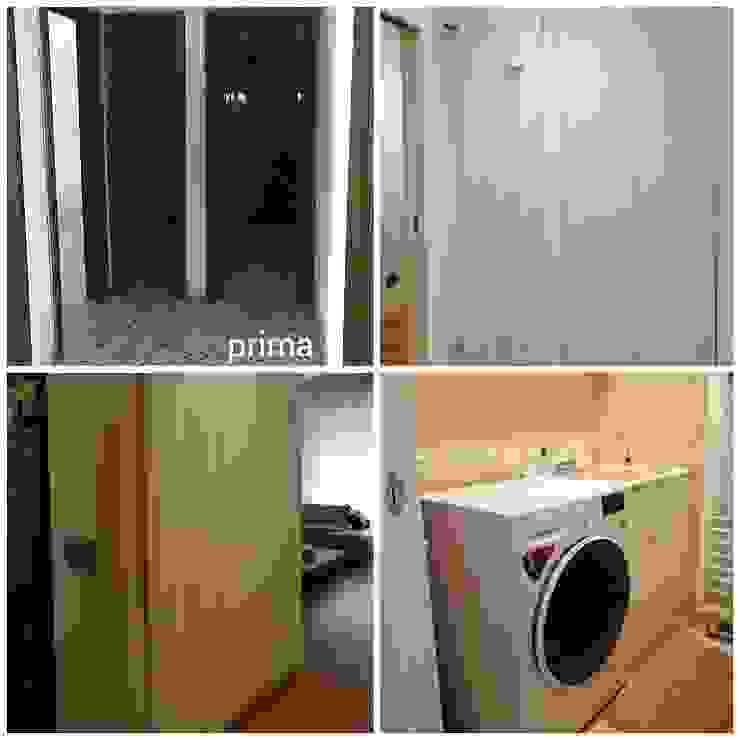 guardaroba ingresso - lavanderia Ingresso, Corridoio & Scale in stile moderno di FORMAstudio3 tecnico Moderno