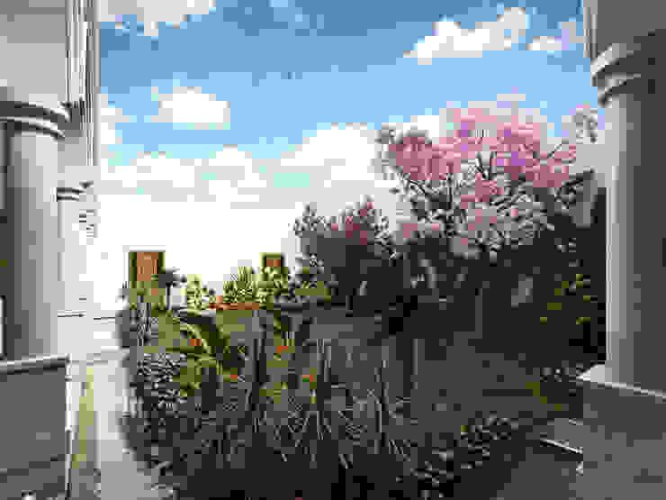 Jardín Central con árboles EcoEntorno Paisajismo Urbano