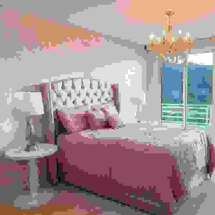 Habitación rosa de Monica Saravia Minimalista