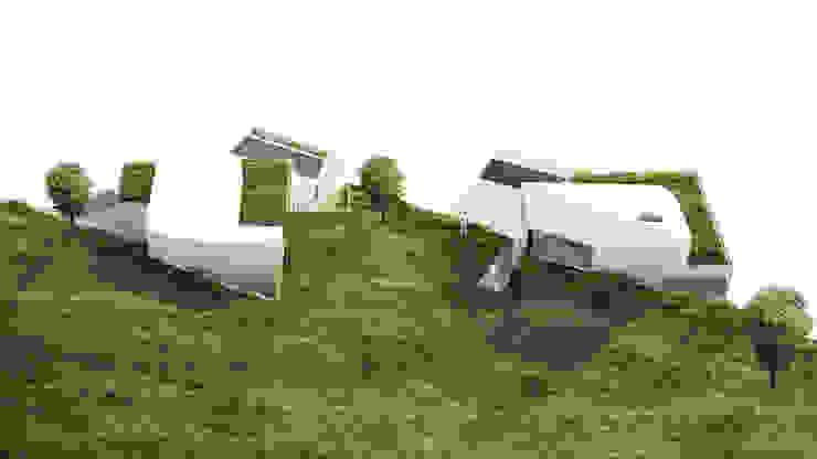 Alçado Norte AAP - ASSOCIATED ARCHITECTS PARTNERSHIP Moradias Branco