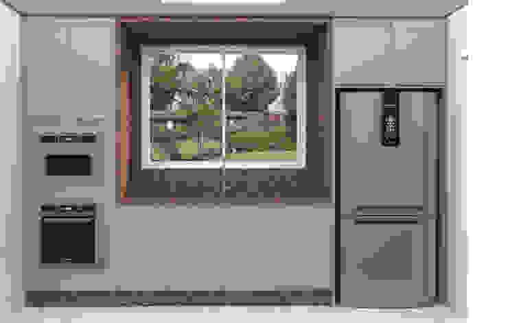 Isadora Valente Arquitetura e Interiores Unit dapur Granit Beige