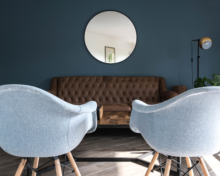 Depto Karmy Livings de estilo minimalista de AlCubo Arquitectos Minimalista