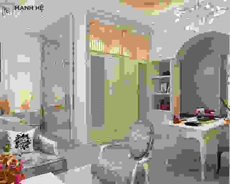 Thiết kế tủ quần áo âm tường khéo léo, tỉ mỉ Phòng ngủ phong cách hiện đại bởi Công ty TNHH Nội Thất Mạnh Hệ Hiện đại