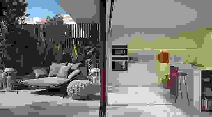 Propriété Générale International Real Estate Balkon, Beranda & Teras Modern