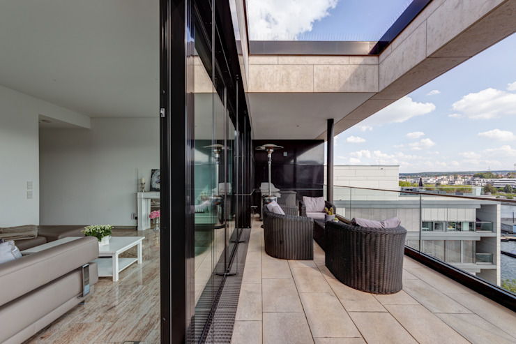 Penthouse Phoenixsee - Balkon finest art of living / Lydia Wegner interiordesign Balkon