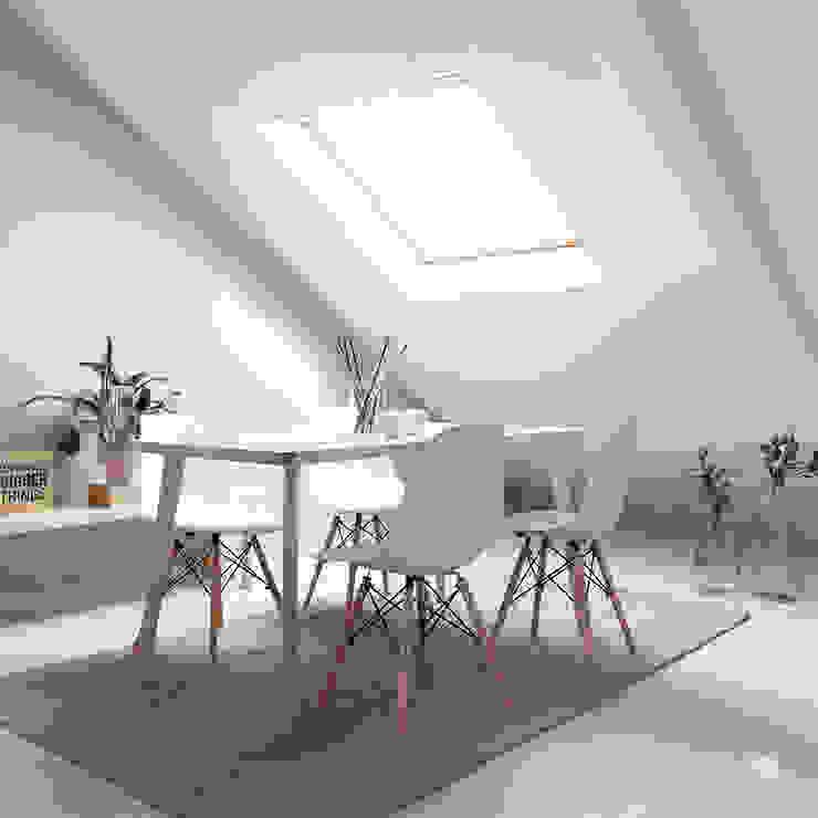 Home Staging – Comedor abuhardillado POMO. Home Staging & Design Studio Comedores de estilo escandinavo