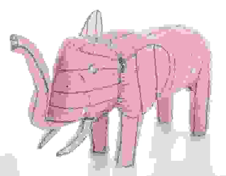 2. Glasperlen-Elefant aus Südafrika, 28 cm gross Welsch GbR WohnzimmerAccessoires und Dekoration Glas Orange