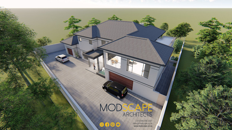 A visual link between old and new Modern houses by Modscape Architects Modern