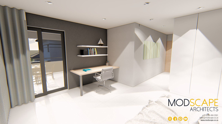 The new bedroom Modern style bedroom by Modscape Architects Modern