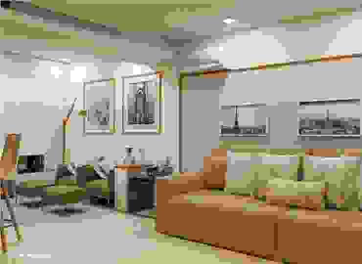 LK Engenharia e Arquitetura Modern living room