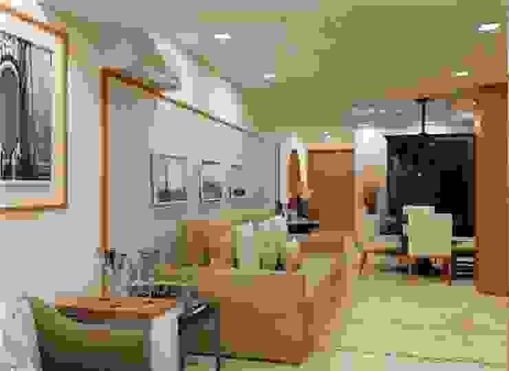LK Engenharia e Arquitetura 现代客厅設計點子、靈感 & 圖片