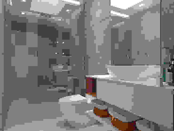 Diseño baño homify Baños de estilo moderno Gris