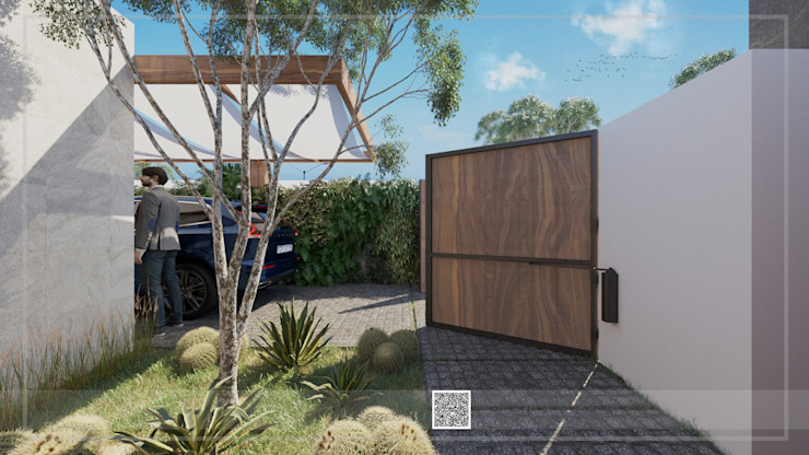 Visualización 3D Front yard Stone Multicolored