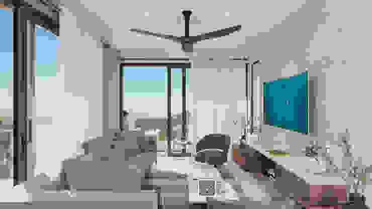Visualización 3D Living room Marble Multicolored
