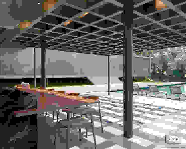 Projeto Residencial - Condomínio Quinta da Baroneza Varandas, alpendres e terraços modernos por AVR Studio Arquitetura Moderno