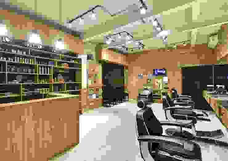 Barbearia Empório do Corte, Pinheiros Espaços comerciais rústicos por AVR Studio Arquitetura Rústico
