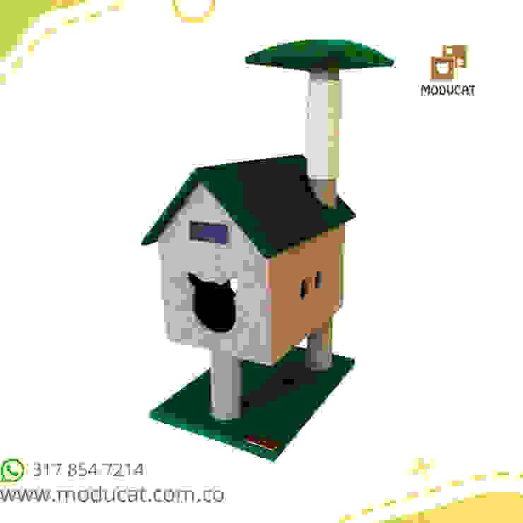 Gimnasio rascador para gatos, referencia Cabaña del rio de ModuCat Estructuras modulares para gatos Moderno