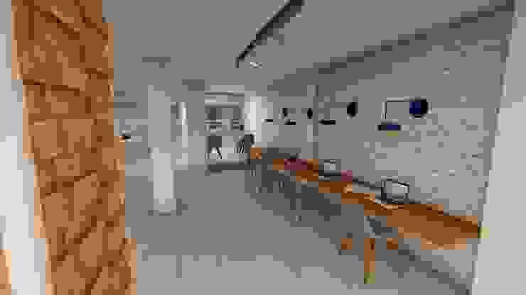 Oficinas Tecamachalco Estudios y despachos minimalistas de EA ARCHITECTURE & FURNITURE Minimalista