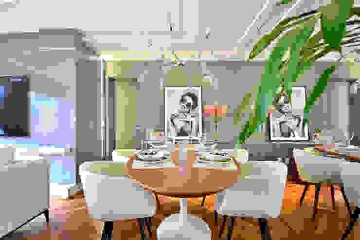 Sala de jantar Juliana Damasio Arquitetura Salas de jantar modernas MDF Cinza