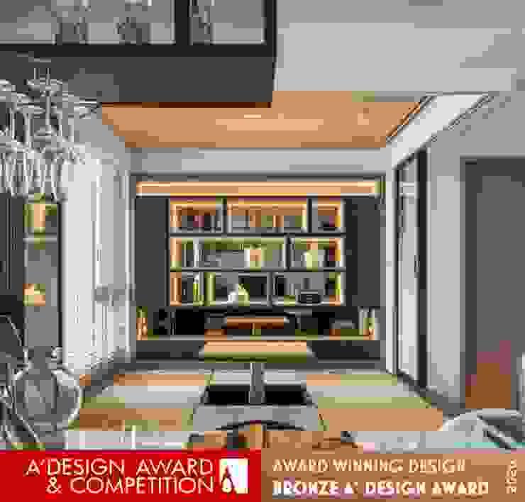開放式公共空間 现代客厅設計點子、靈感 & 圖片 根據 木博士團隊/動念室內設計制作 現代風