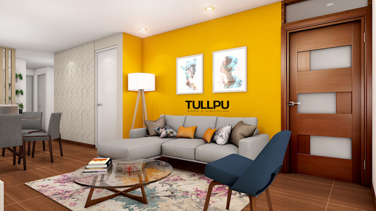 Tullpu Diseño & Arquitectura Living room Yellow