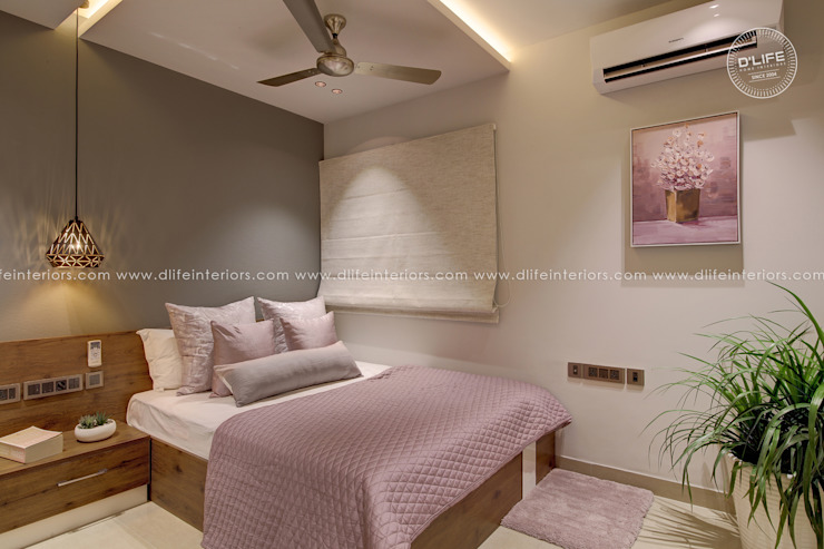Master Bedroom Interiors with Bottom Storage Bed DLIFE Home Interiors Modern style bedroom