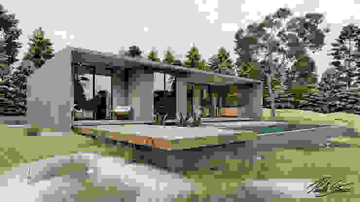 Fachada Casas minimalistas por Paulo Stocco Arquiteto Minimalista Concreto