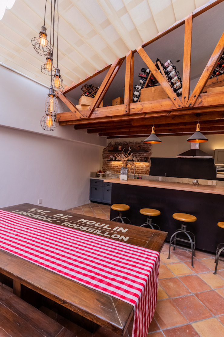 emARTquitectura Arte y Diseño Ruang Makan Gaya Mediteran