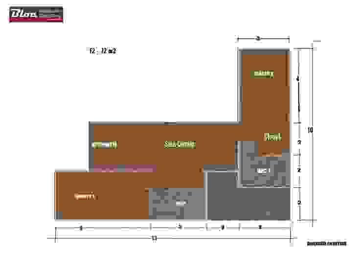 BLOC Linea T2 Area 72m2 (76m2-bruta) BLOC - Casas Modulares
