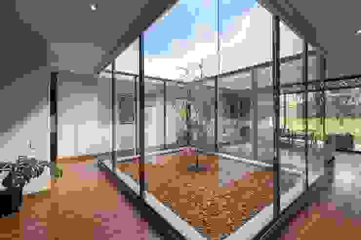 Minimalist corridor, hallway & stairs by David Macias Arquitectura & Urbanismo Minimalist Glass