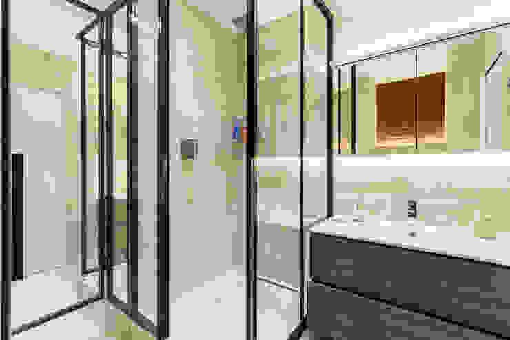 Дизайн и ремонт квартиры-студии в стиле лофт 50 м² Ванная в стиле лофт от Бюро интерьеров ICON Лофт