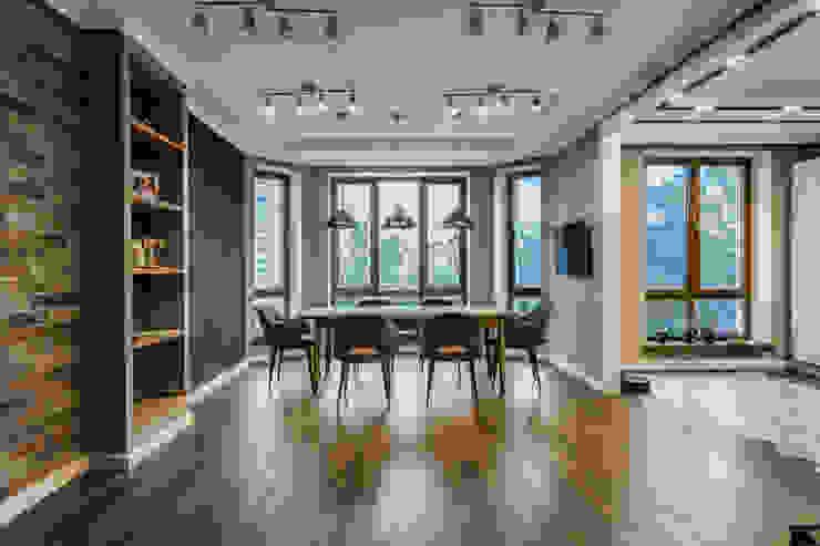 Ремонт четырехкомнатной квартиры 200 м² Столовая комната в стиле лофт от Бюро интерьеров ICON Лофт