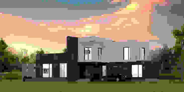 주택 전면 디자인 디자인 이업 전원 주택 벽돌 검정