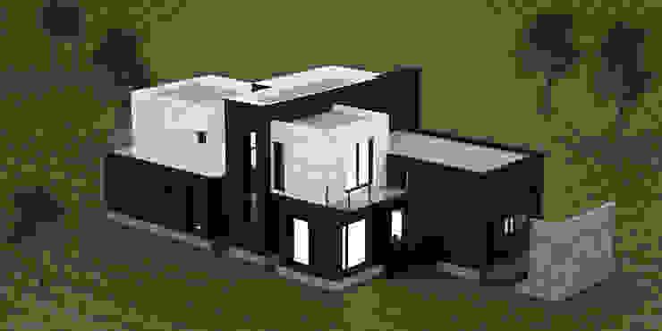 주택 배면 파사드 디자인 디자인 이업 전원 주택 벽돌 화이트