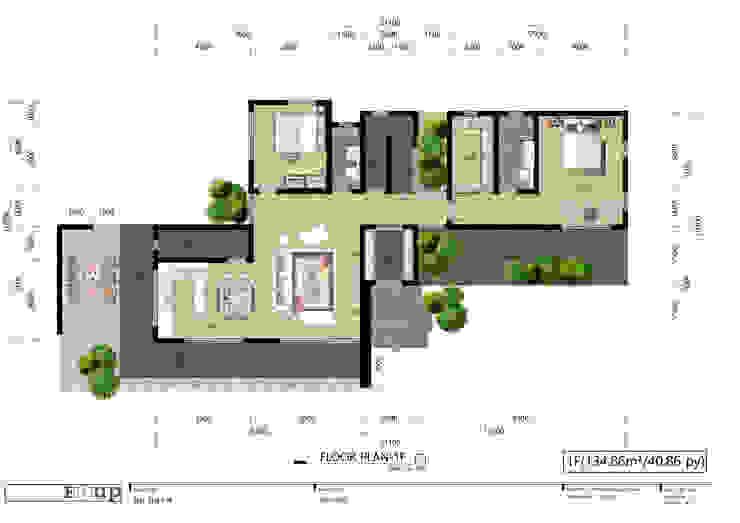 주택 1층 평면도 디자인 이업