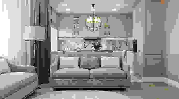Дизайн проект квартиры в стиле современная классика 130 м² Бюро интерьеров ICON Гостиная в классическом стиле