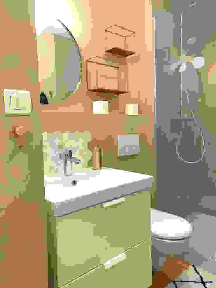 Sandrine Carré Scandinavian style bathroom