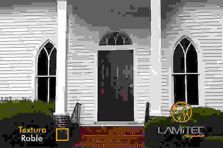 Lamitec SA de CV pintu depan Metal Wood effect
