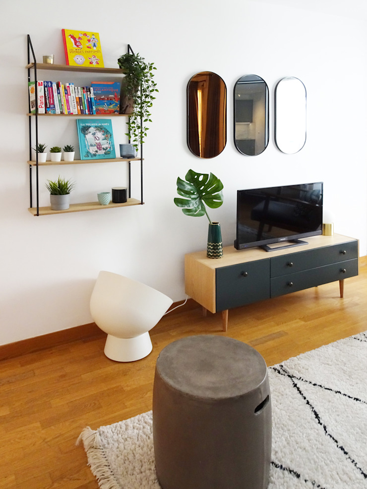 Sandrine Carré Scandinavian style living room