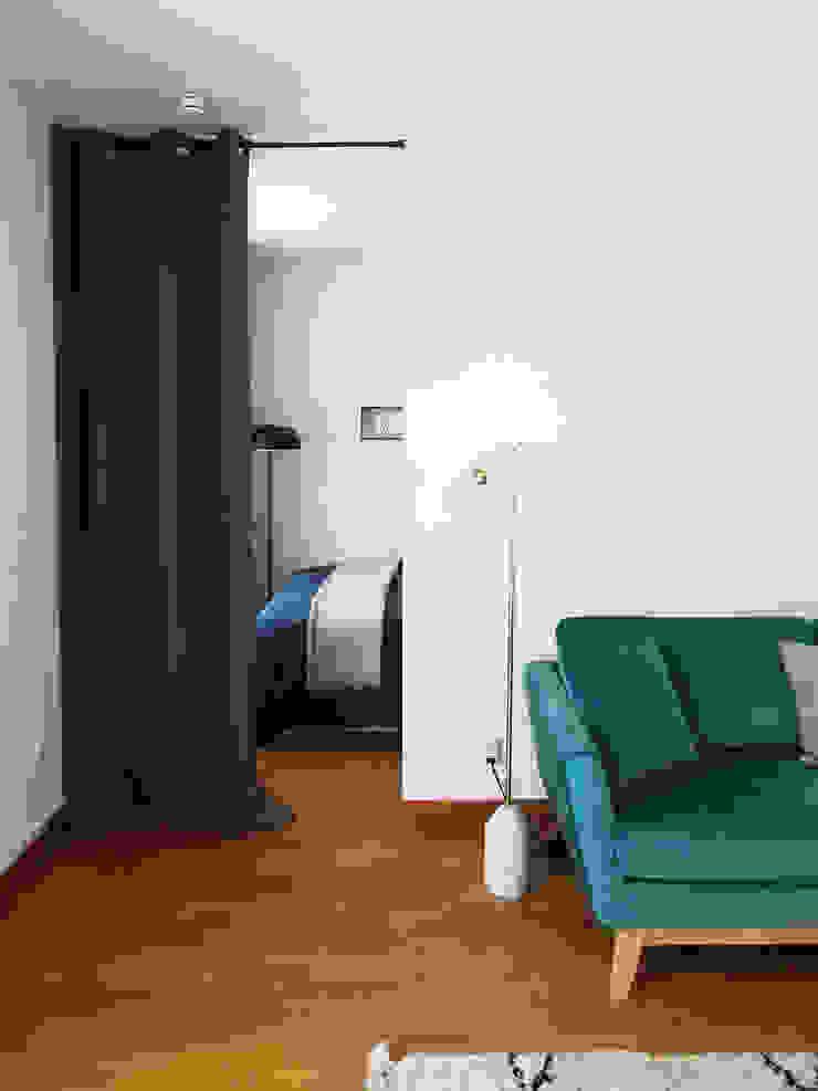 Sandrine Carré Scandinavian style bedroom