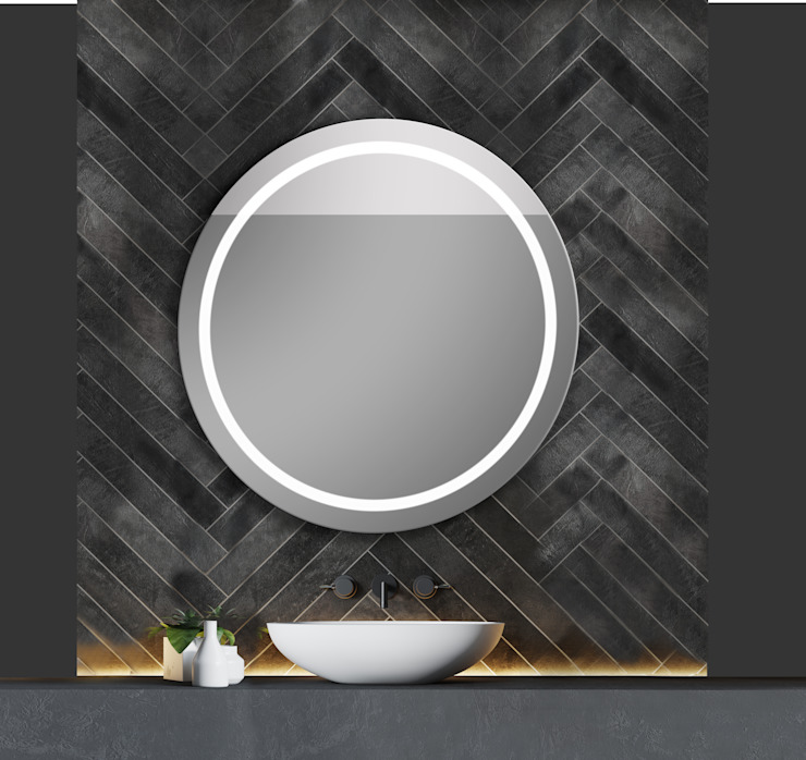IRIS LUZ LED PERIMETRAL ALTA INTENSIDAD Baños de estilo moderno de Xpertials SL Moderno Vidrio