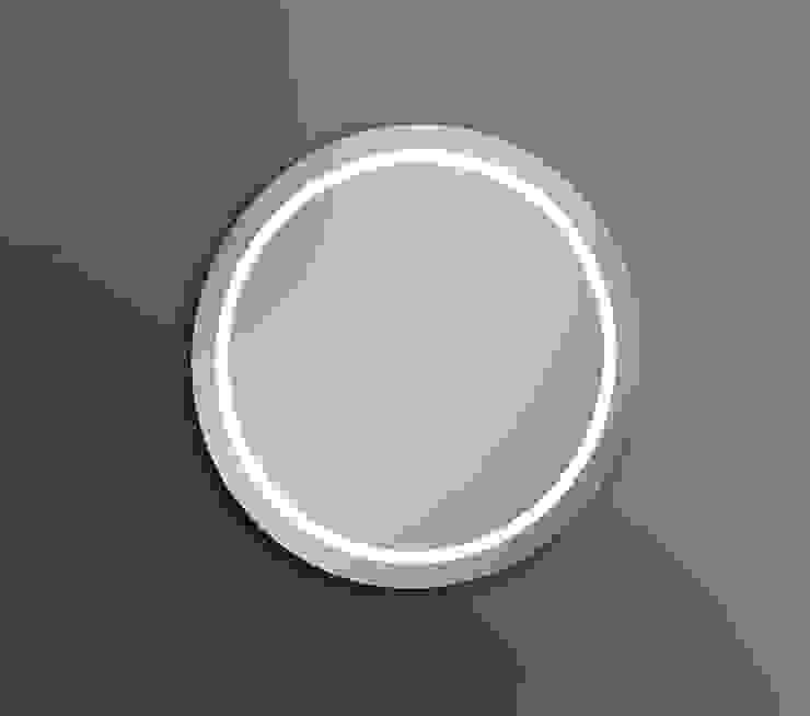 IRIS LUZ LED PERIMETRAL ALTA INTENSIDAD 60 DIAMETRO Baños de estilo moderno de Xpertials SL Moderno Vidrio